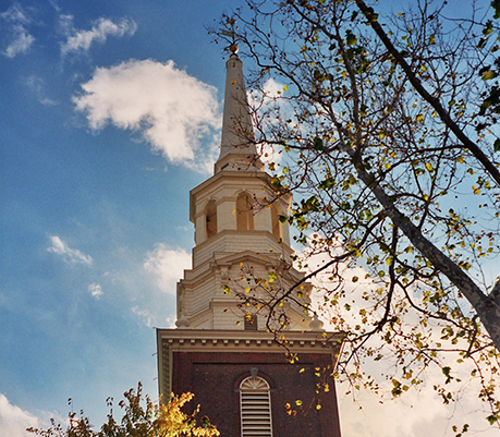 Christ Church steeple from the Colonial Era