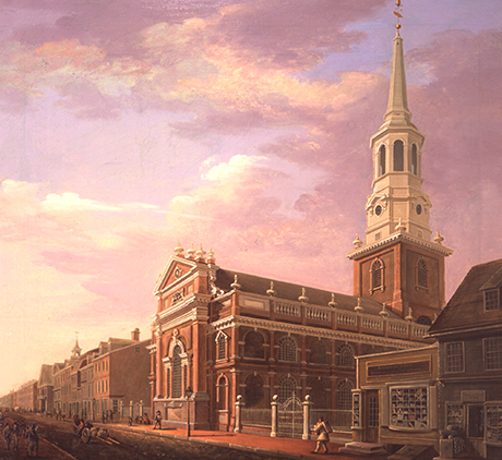Christ Church painted by William Strickland, 1811